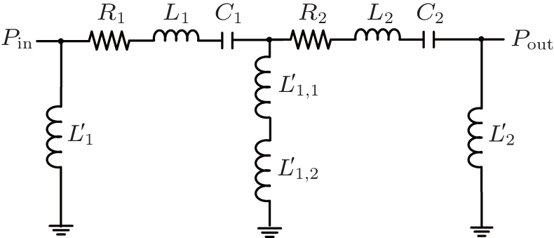 Lumped-equivalent circuit model for multi-stage cascaded