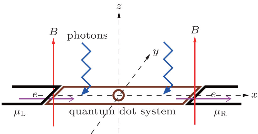 Effects Of Magnetic Field On Photon Induced Quantum Transport In A