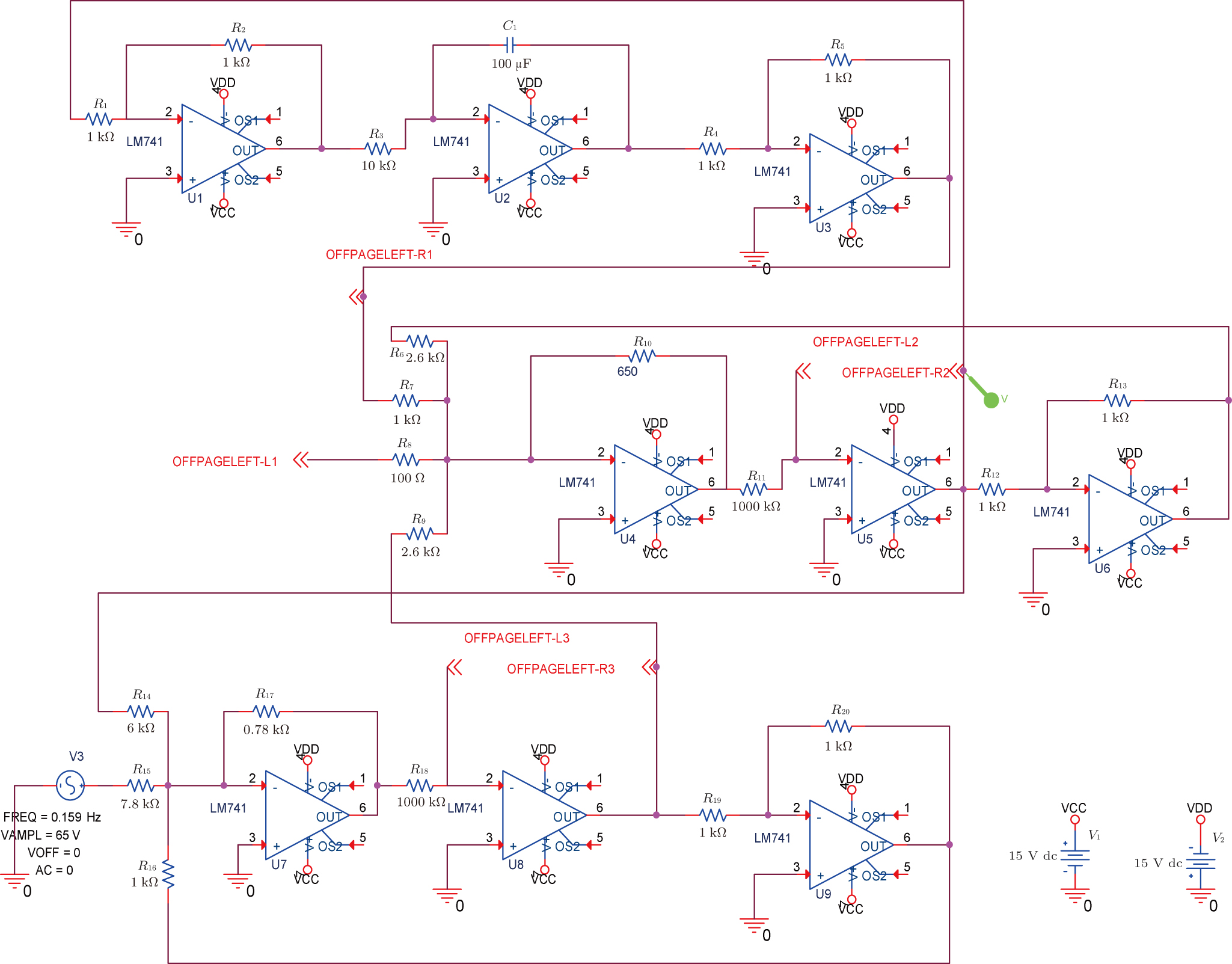 Dynamic Analysis And Fractional Order Adaptive Sliding Mode Control Lm741 Circuit Color Online Simulator Of Ferroresonance System