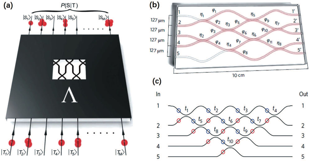 Quantum photonic network on chip